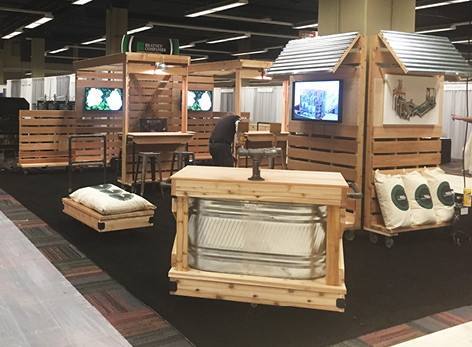How we created a custom trade show booth that doubled as an after-hours event venue