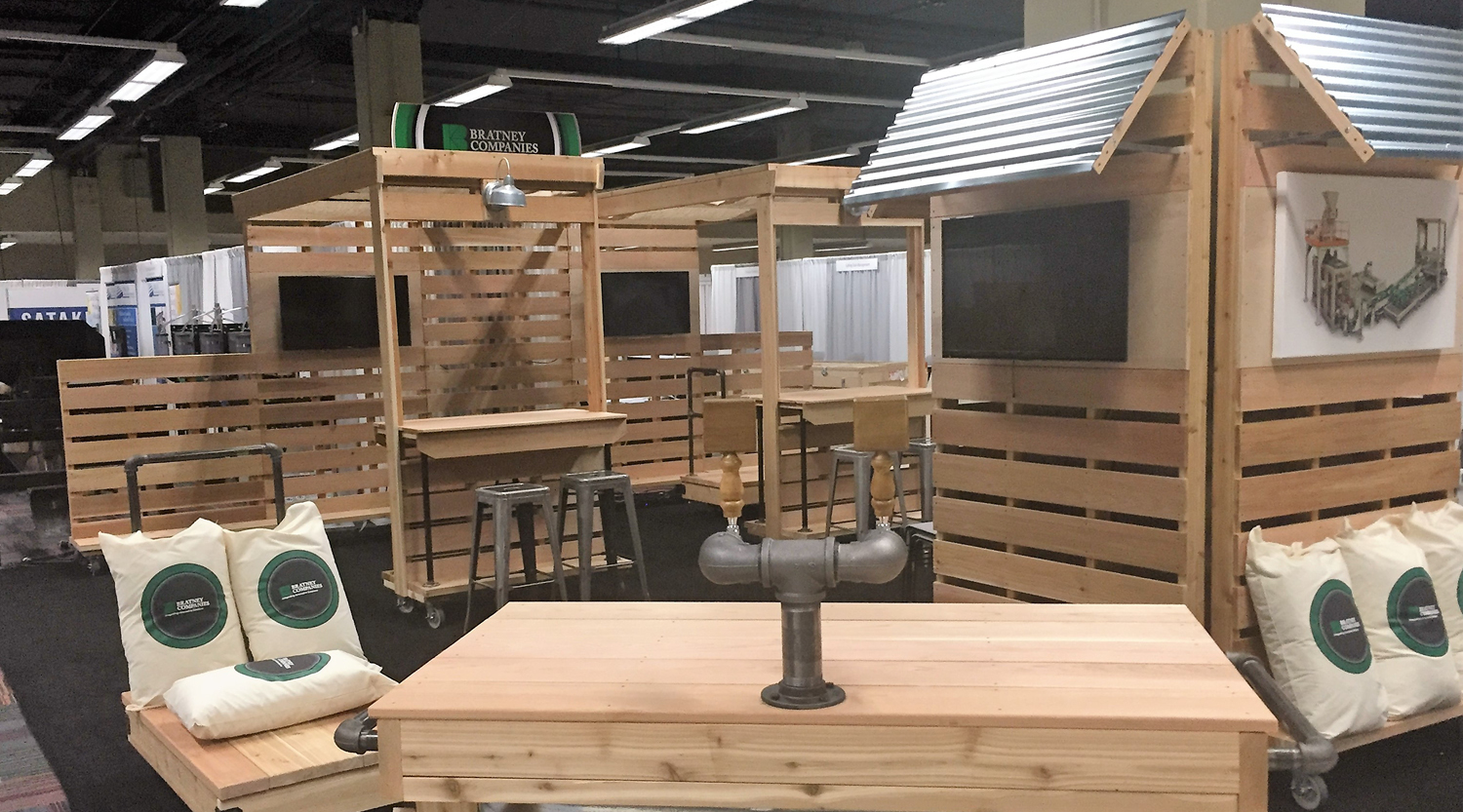 How we created a custom trade show booth that doubled as an after-hours event venue2